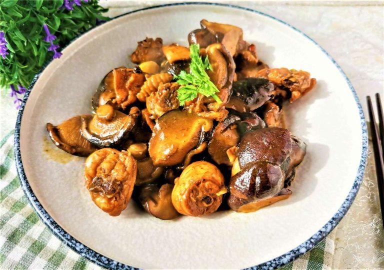 Braised Chicken Legs with Mushrooms