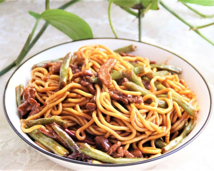 Fried Noodles with Green Beans and Pork Recipes