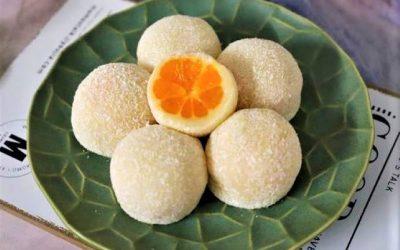 Orange Glutinous Rice Cake Chinese Fodd Recipe