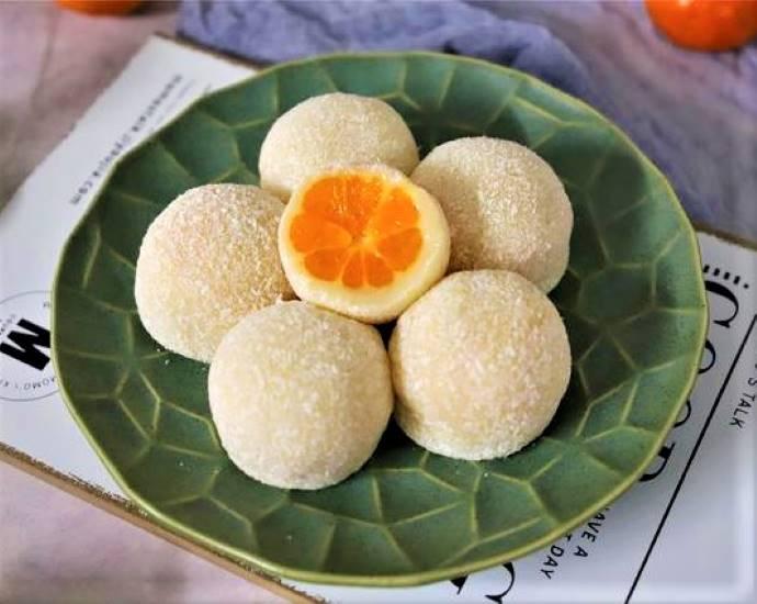Orange Glutinous Rice Cake | Chinese Dessert Recipe