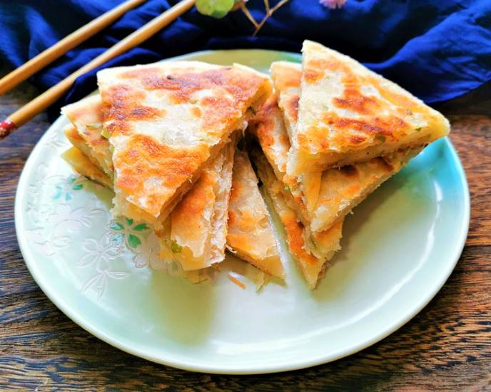 Scallion Pancake | Chinese Street Food Recipes