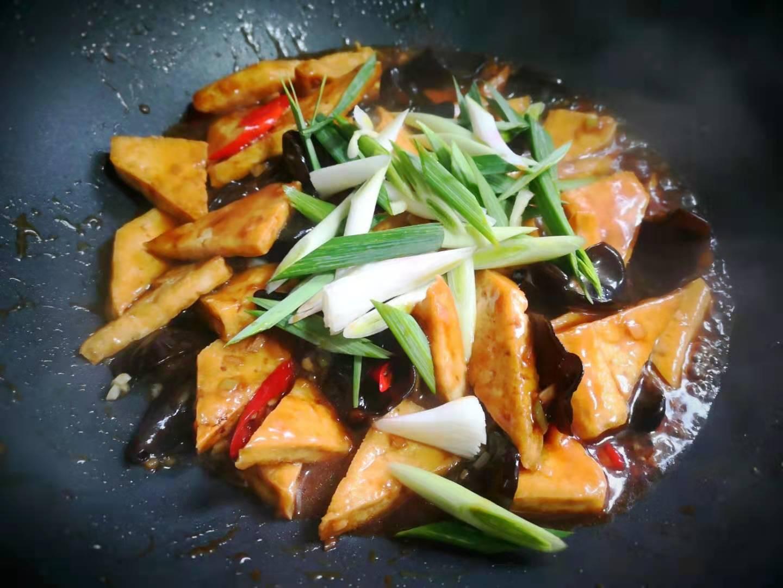 Stir Fried Tofu with Black Fungus Recipe 08