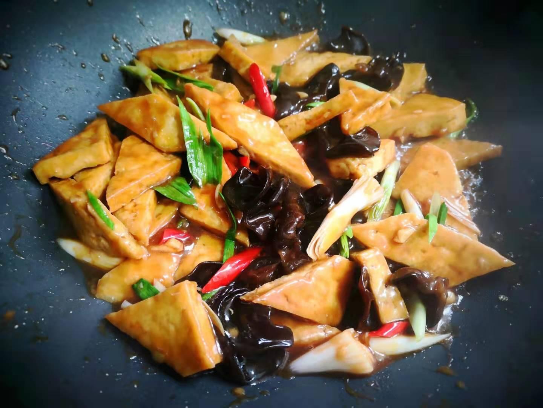 Stir Fried Tofu with Black Fungus Recipe 09