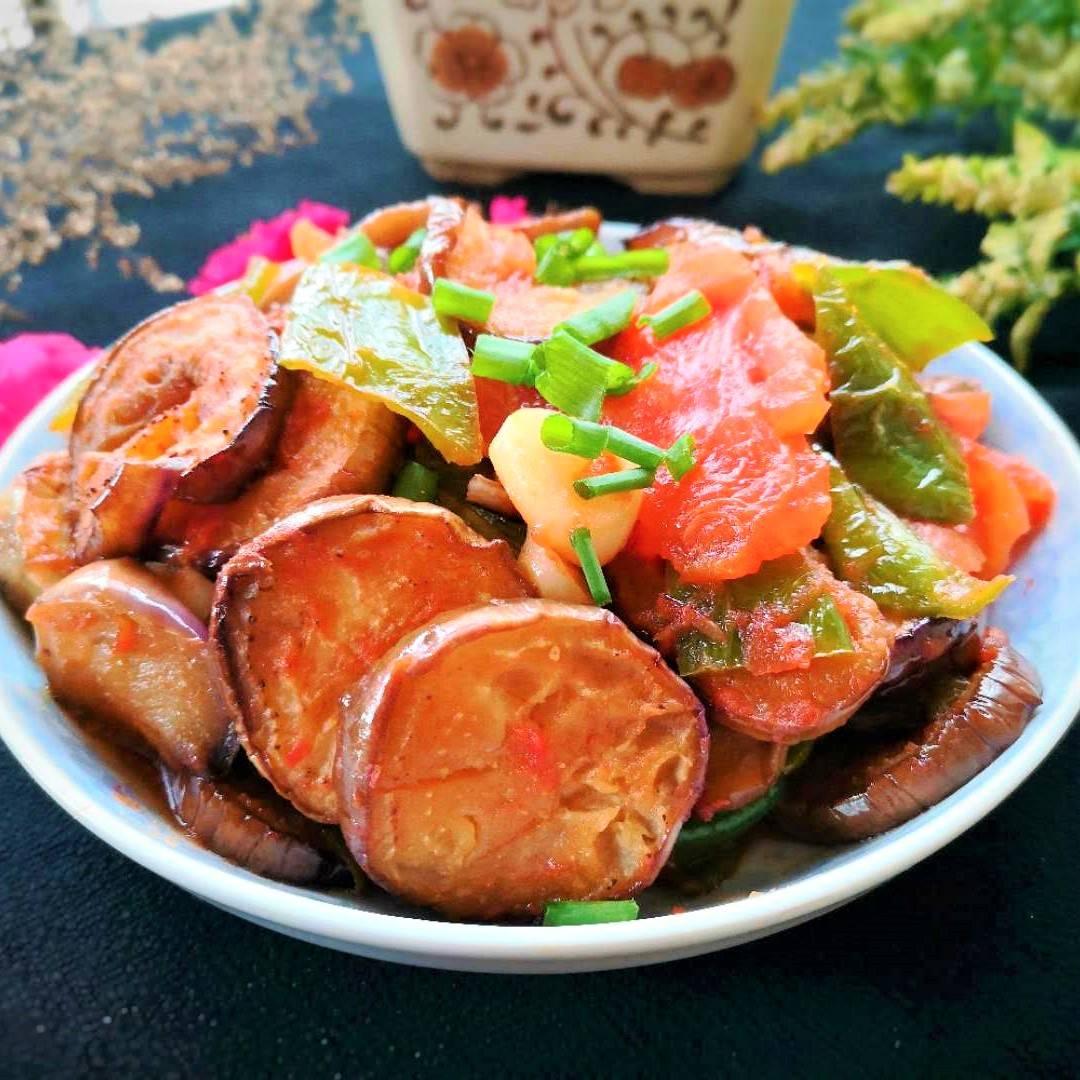 Vegan Fried Eggplant with Tomato Recipe 10