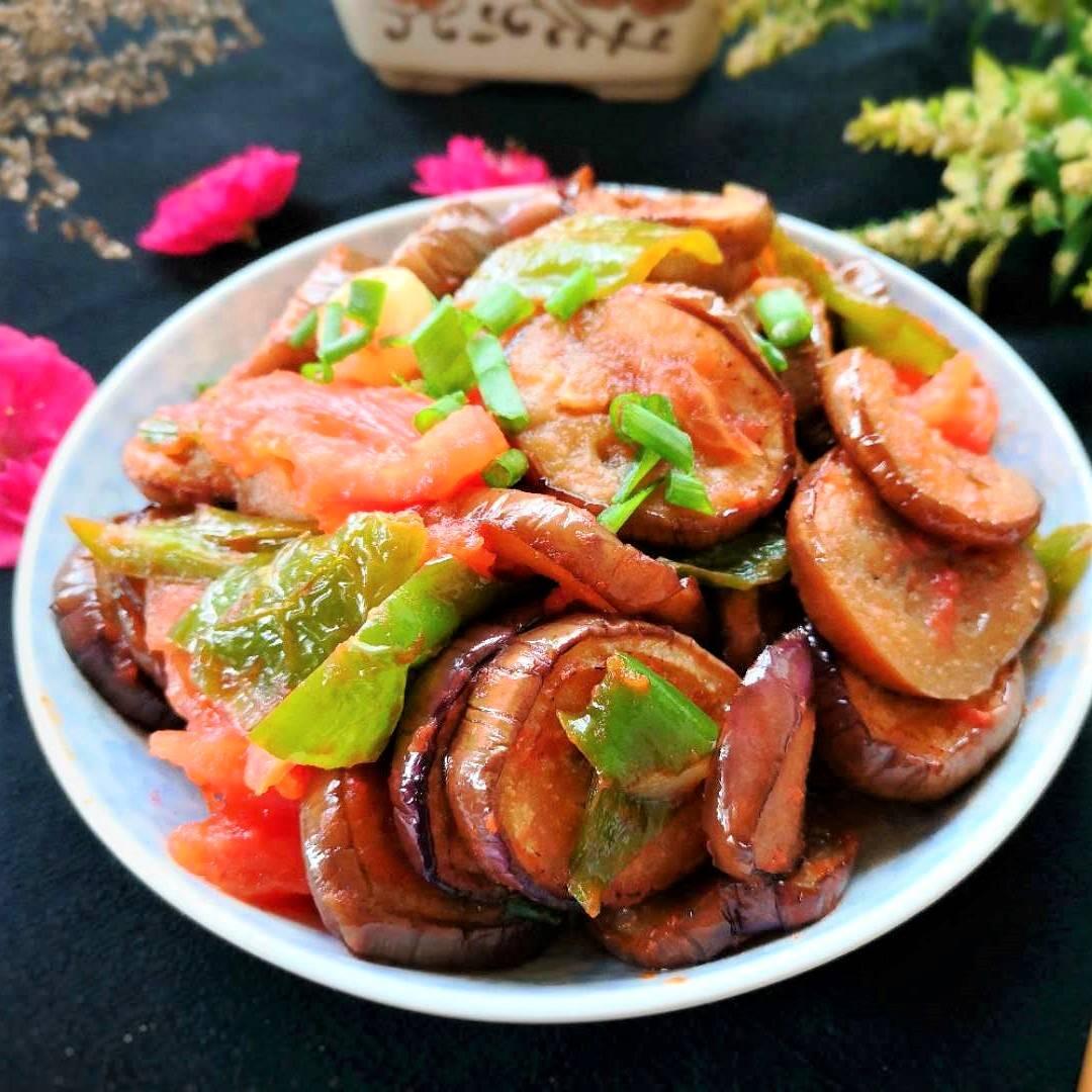 Vegan Fried Eggplant with Tomato Recipe China