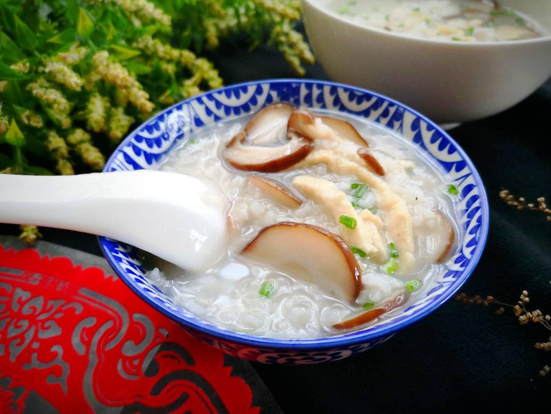 chicken congee with mushroom rice porridge recipes 2020