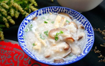 chicken congee with mushroom rice porridge recipes