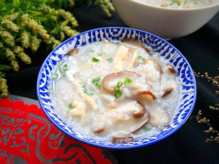 Chicken Congee with Mushroom | Rice Porridge