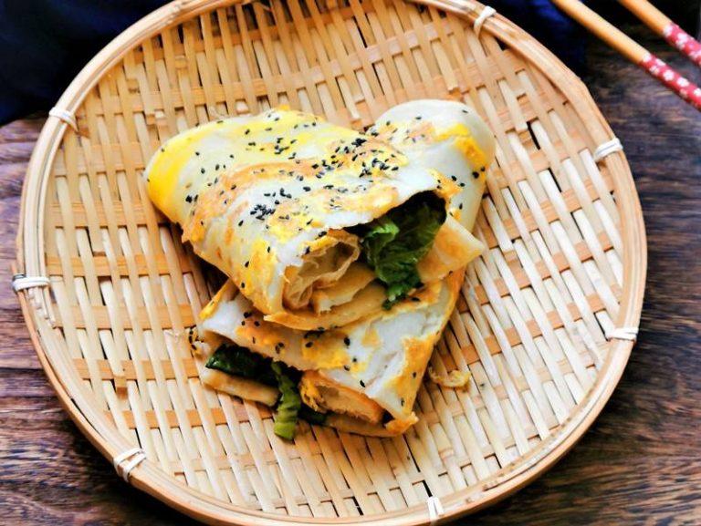 Chinese Savior Rrepe | Chinese Breakfast Pancakes Street Food Snacks
