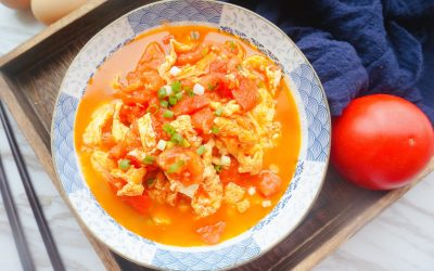 Easy Scrambled Eggs With Tomatoes recipe