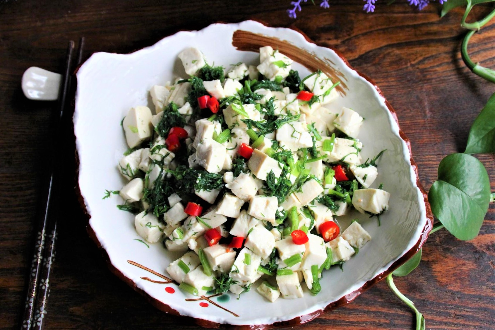 Easy Tofu Salad With Fennel Fronds Recipe 2020