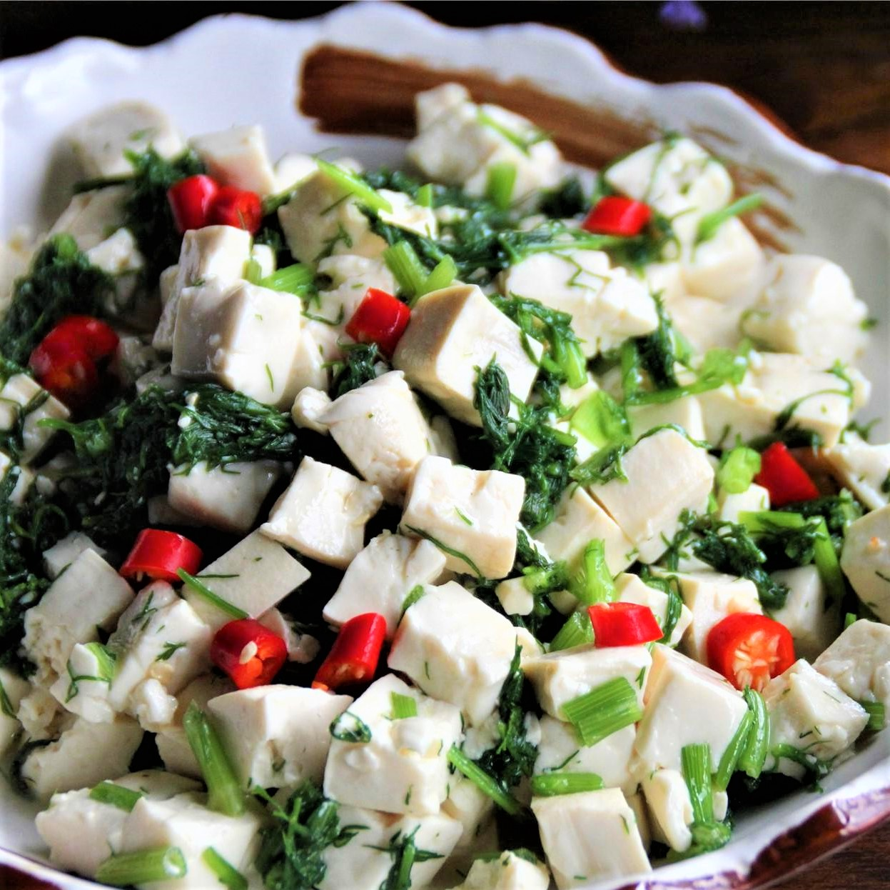 Easy Tofu Salad With Fennel Fronds Recipe 2021
