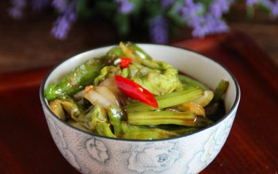 Pickled Chinese cabbage and celery salad recipe 2020
