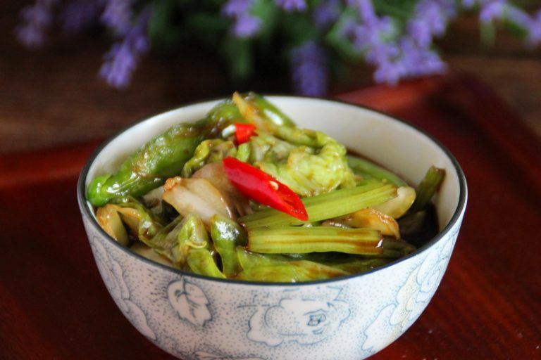 Pickled Chinese Cabbage and Eelery Salad Recipe