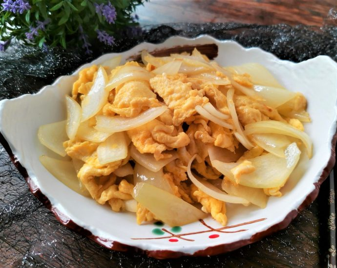 Scrambled Eggs With Onion Recipe China Food Style 2020