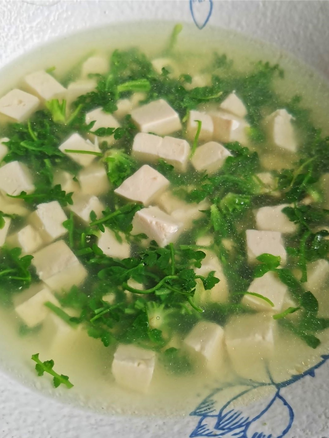 Shepherd's purse and tofu soup healthy and light Chinese soup recipe 2021