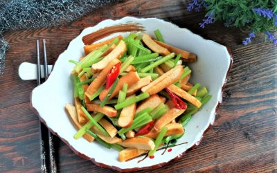 Sir Fry Chinese Celery with Smoked Bean Curd Recipes