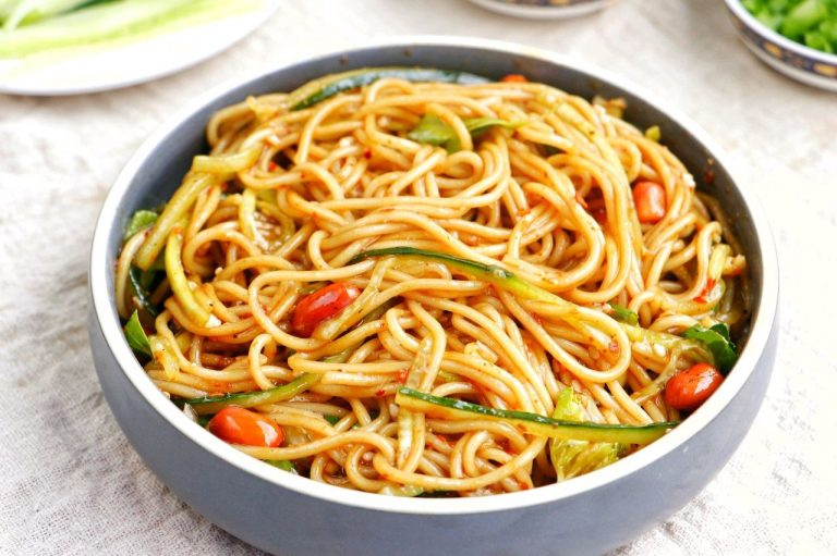 Spicy And Sour Asian Noodle Salad Recipe | Chinese Summer Street Food