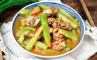 Stewed Spare Ribs With Celtuce Recipe China Home Cooked Dish