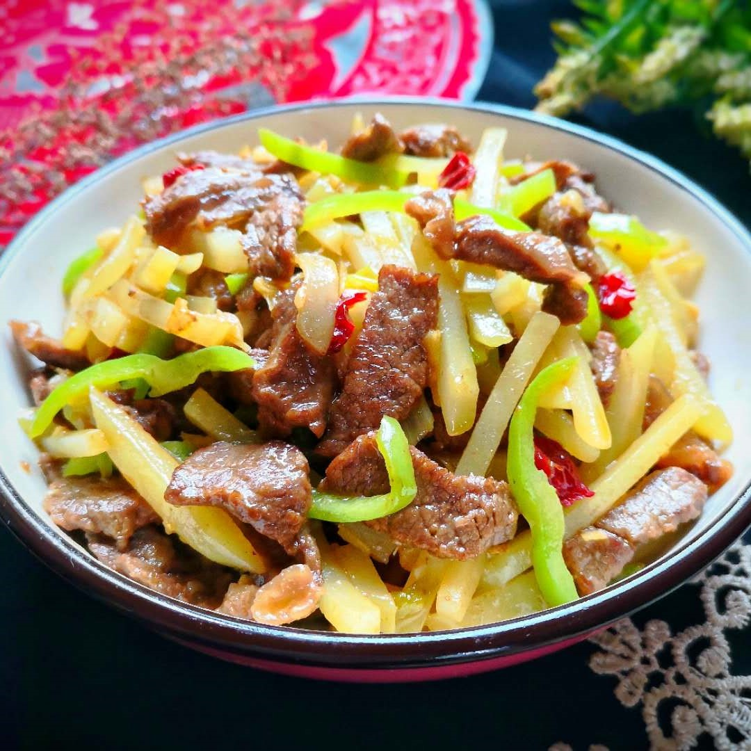 Stir-Fried Beef With Potatoes And Green Peppers Recipe 2020