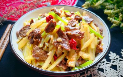 Stir-Fried Beef With Potatoes And Green Peppers Recipe