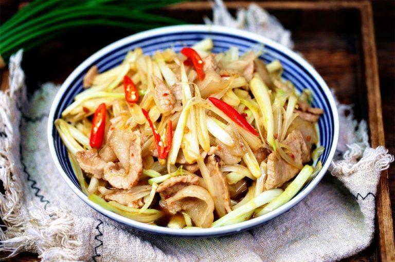 Stir-Fried Pork with Chinese Onion Recipe