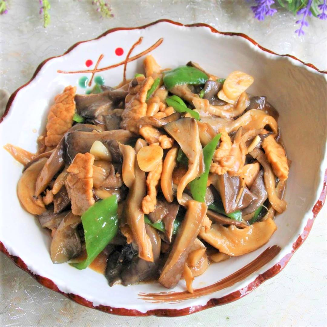 Stir fried pork with Oyster Mushroom Recipe 08