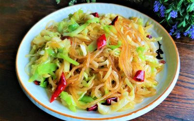 Sweet Potato Vermicelli Stir-Fried with Cabbage Recipe Vegetarian food