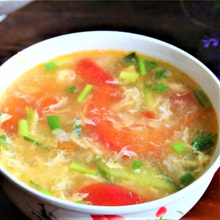 Tomato and Cucumber Egg Soup Recipe