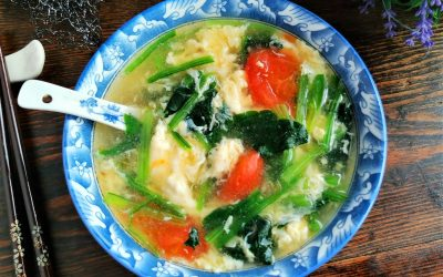 Tomato, spinach egg drop soup recipe 2020