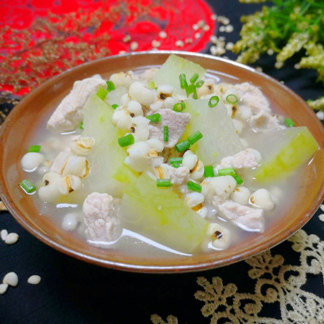 Winter Melon Soup With Job's Tears And Pork Recipe 08