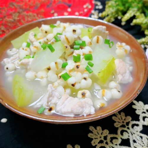Winter Melon Soup With Job's Tears And Pork Recipe