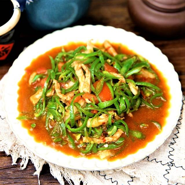 shredded pork with green pepper Chinese food recipe 2022