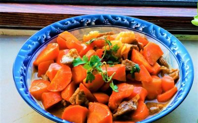 Braised mutton with carrot chinese lamb stew recipe