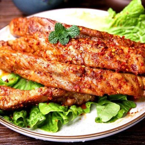 Grilled pork ribs recipe pork chops street night snack