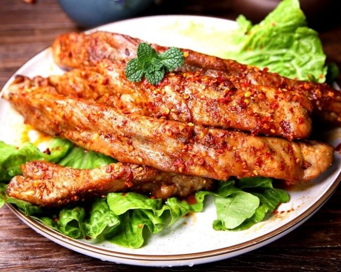 Grilled pork ribs recipe pork chops street night snack