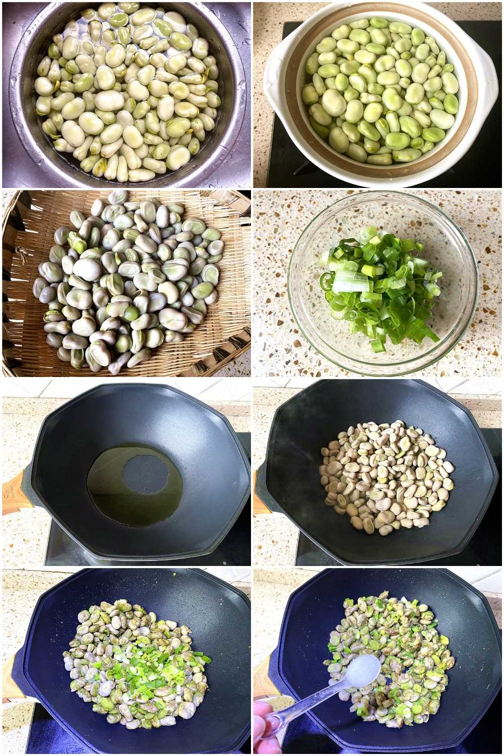 Pan fried broad beans recipe how to cook fava beans easy