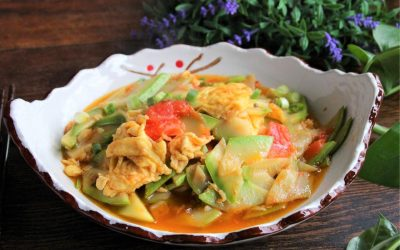 Scrambled eggs with Zucchini and tomatoes recipe china home-cooked dish