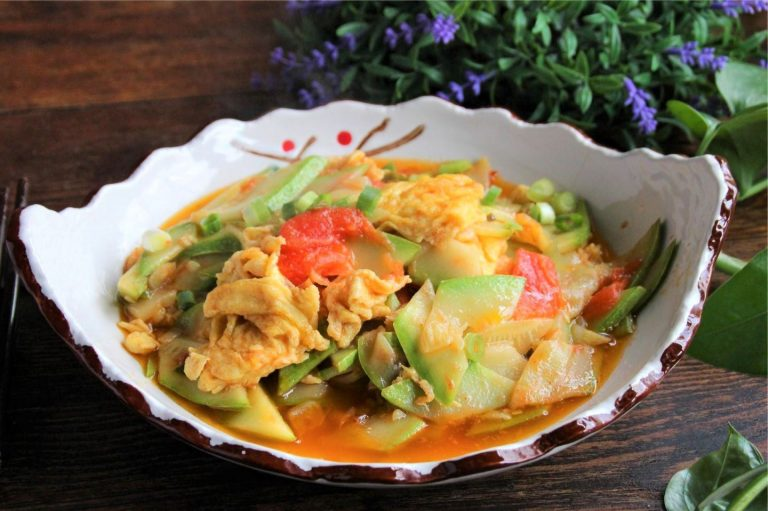 Scrambled Eggs With Zucchini And Tomatoes China Home Cooked Dish