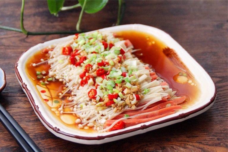 Steamed Needle Mushrooms Recipe | Spicy Food