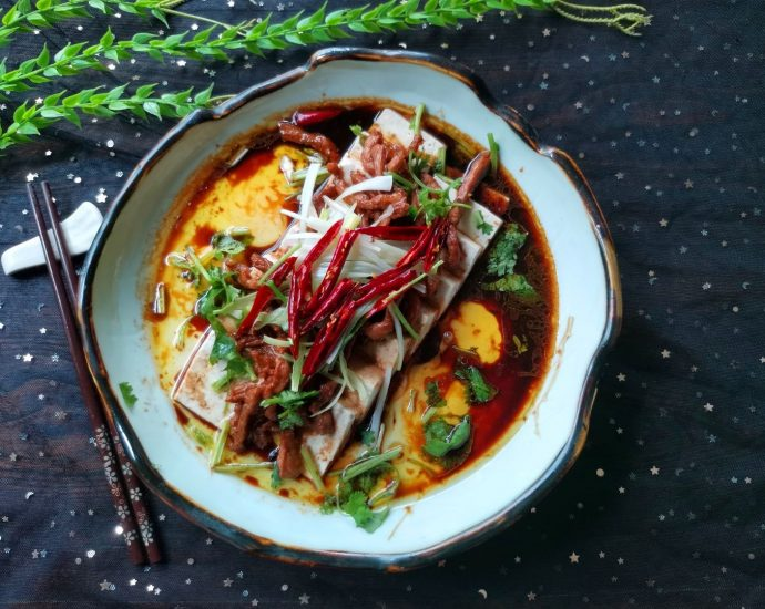 Steamed egg and tofu recipe china food 02