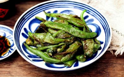 Stir-fried green pepper Chinese tiger skin pepper