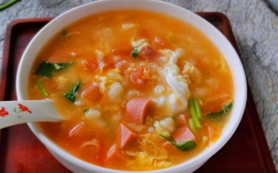 Tomato And Egg Flour Pimple Soup