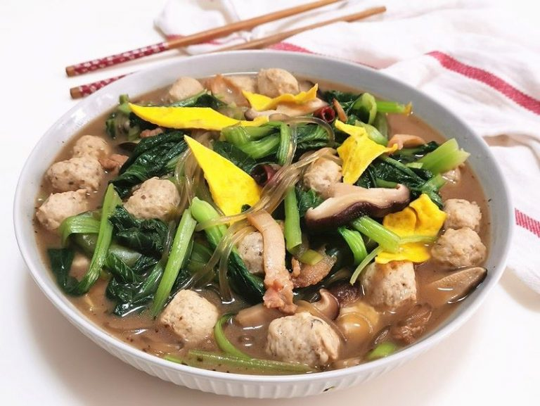 Vegetables With Pork Meatballs Recipe