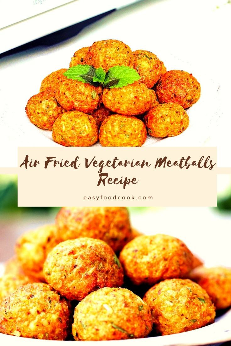 Air Fried Tofu Meatballs vegetarian meatballs recipe 2020