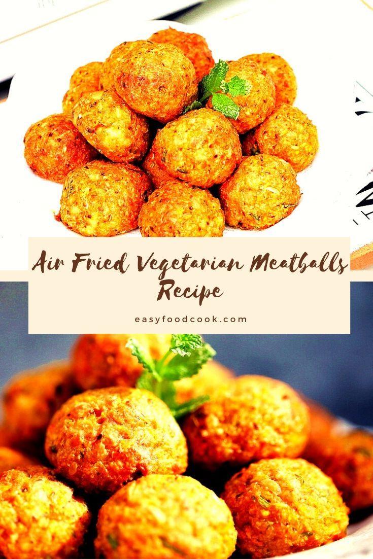 Air Fried Tofu Meatballs vegetarian meatballs recipe