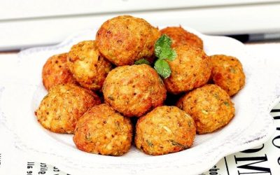 Air fried tofu balls vegetarian meatballs recipe