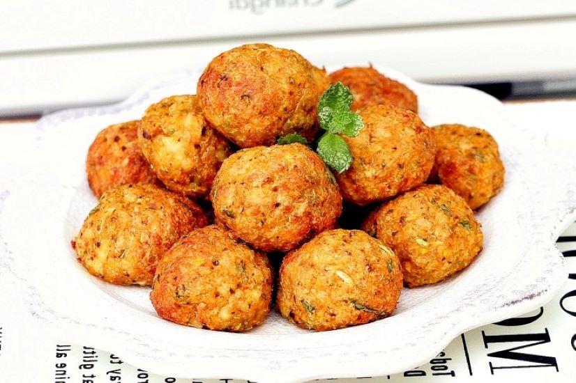 Air fried tofu balls vegetarian meatballs recipe