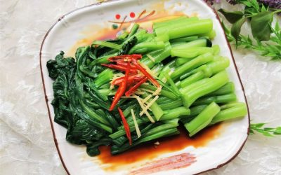 China Food Choy sum salad chinese cold dish