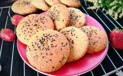 Easy healthy crispy cookies peach shortbread recipe
